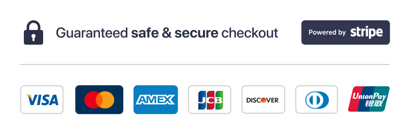 Secure payments via Stripe